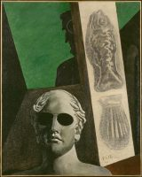 Giorgio de Chirico (1888-1978). Portrait (prémonitoire) de Guillaume Apollinaire, 1914. Huile sur toile © Centre Pompidou, MNAM-CCI, Dist. RMN-Grand Palais / Adam Rzepka © ADAGP, Paris 2016