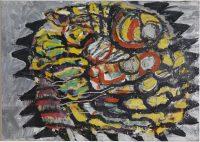 Mario MERZ, Girasole (Tournesols), 1960. Tempera sur toile. Collection Centre Pompidou, mnam /cci © Centre Pompidou/Dist. RMN-GP © Adagp, Paris 2016