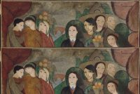 Marie Laurencin (1885-1956). Apollinaire et ses amis, dit aussi Une réunion à la campagne, 1909. Huile sur toile © Centre Pompidou, MNAM-CCI, Dist. RMN-Grand Palais / Jean-Claude Planchet © ADAGP, Paris 2016