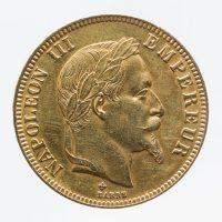 Albert-Désiré Barré (1818-1878). Pièce de 100 francs en or de Napoléon III, 1867 © Julien Vidal / Musée Carnavalet / Roger-Viollet