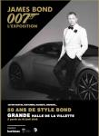 Affiche de James Bond 007, L'Exposition 50 ans de style Bond. Grande Halle de la Villette à partir du 16 avril 2016. © 1962-2016 Danjaq, LLC and United Artists Corporation (logo 007) and related James Bond Trademarks are Trademarks of Danjaq, LLC. All Rights Reserved