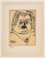 Pablo Picasso (1881-1973). Portrait lithographié de Balzac sur vélin d'Arches, 1957 (c) Maison de Balzac / Roger-Viollet (c) Succession Picasso, 2016