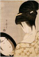 Kitagawa Utamaro (1753-1806)Femme se poudrant le couÉpoque d'Edo, 1795-1796Impression polychrome, 36,9 x 25,4 cmCachet de l'éditeur Ise MagoParis, musée national des arts asiatiques – Guimet, don C. Salouray, 1894 © RMN-Grand Palais (musée Guimet, Paris) / Droits réservésv