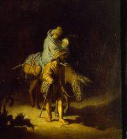 Rembrandt (1606-1669). La Fuite en Égypte, 1627. Huile sur bois - 26,4 x 24,2 cm. Tours, Musée des Beaux-Arts © Musée des Beaux-Arts de Tours