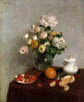 Henri Fantin-Latour Fleurs d'été et fruits 1866 huile sur toile ; 73 x 59,7 cm Etats-Unis, The Toledo Museum of Art © The Toledo Museum of Art
