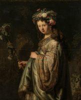 Rembrandt (1606-1669). Saskia en Flore, 1634. Huile sur toile - 125 x 101 cm. Saint-Pétersbourg, Musée de l'Ermitage - Photograph © The State Hermitage Museum / Vladimir Terebenin