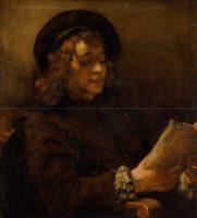 Rembrandt (1606-1669). Titus lisant, vers 1656-1658. Huile sur toile - 71,5 cm x 64,5 cm. Vienne, Kunsthistorisches Museum, Gemäldegalerie © KHM-Museumsverband