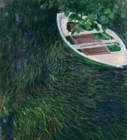 Claude Monet, La Barque, 1887. Huile sur toile, 146 x 133 cm. Paris, Musée Marmottan Monet © The Bridgeman Art Library
