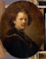 Rembrandt (1606-1669). Autoportrait à la tête nue, 1633. Huile sur bois, 60 x 47 cm. Paris, Musée du Louvre - Département des Peintures, acquis en 1806 © Service presse RMN-Grand Palais (musée du Louvre) / Hervé Lewandowski