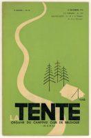Hergé. La Tente. Couverture de publication : illustration et lettrage, 1936. Collection Studios Hergé © Hergé/Moulinsart 2016
