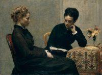 Henri Fantin-Latour La Lecture 1877 huile sur toile ; 97,2 x 130,3 cm Lyon, musée des Beaux-Arts © musée des Beaux-Arts de Lyon / Photo Alain Basset