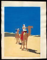 Hergé. Les Aventures de Tintin, Le crabe aux pinces d'or, 1942. Bleu de coloriage de l'illustration de couverture de l'album, aquarelle et gouache sur épreuve imprimée, 42 x 30 cm. Collection Studios Hergé © Hergé/Moulinsart 2016