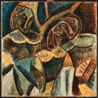 Pablo Picasso, Trois figures sous un arbre, Paris, Hiver 1907-1908 Huile sur toile, Musée national Picasso-Paris © Succession Picasso 2016