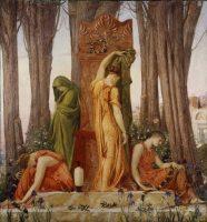 Sir William Blake Richmond, Electre sur la tombe d'Agamemnon, 1874. © 2016 Art Gallery of Ontario