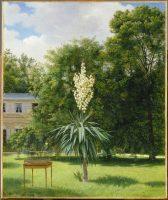 CHAZAL Antoine (1793-1854). Le Yucca gloriosa fleuri en 1844 dans le parc de Neuilly, 1845. Paris, musée du Louvre. Photo © RMN-Grand Palais (musée du Louvre) / Gérard Blot