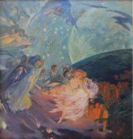 Albert Besnard (1849-1934), La Vérité entraînant les Sciences à sa suite répand sa lumière sur les hommes, détail, vers 1890, peinture murale, Paris, Hôtel de Ville, Salon des sciences. © Claire Pignol / COARC / Roger-Viollet