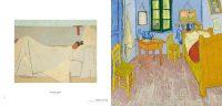 Mais où est donc Pompon ? Page de gauche : E. Vuillard, Au lit, 1891. Page de droite : La Chambre de Van Gogh à Arles, 1889