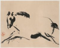 Walasse Ting. Sans titre (cheval), vers 1952/54. Encre sur papier. Paris, musée Cernuschi (c) The Estate of Walasse Ting / Adagp, 2016 / Photo Stéphane Piera / Roger-Viollet