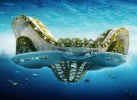 Lilypad, cité flottante et écologique pour l'accueil des réfugiés, Vincent Callebaut, 2008. © Vincent Callebaut Architectures