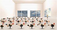 © Muriel Bordier, La leçon de natation, série Les Thermes, 2014, courtesy galerie Annie Gabrielli