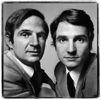 François Truffaut et Jean-Pierre Léaud, réalisateur et acteur, Paris, 20 juin 1971 Photographie Richard Avedon © The Richard Avedon Foundation