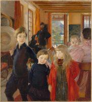 Albert Besnard (1849-1934), Portrait de famille, vers 1890, huile sur toile, 132 x 120 cm, Paris, musée d'Orsay. Photo © RMN-Grand Palais (musée d'Orsay) / Franck Raux