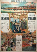 Royan Express. Compagnie Internationale des Wagons-Lits. Affiche publicitaire, 1899. © Musée de Royan