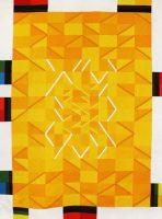 Hommage à Van Gogh Station n° 5, 2015 Albert Ayme Manufacture des Gobelins, 3,10 x 2,30 m 23 kg de laine, 27 couleurs, 287 jours de tissage