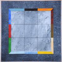 Le monde en 9 ou La maison du calendrier, 2015 Claire Pichaud Manufacture de la Savonnerie, 4 x4 m 168 kg de laine, 56 couleurs, 1329 jours de tissage