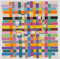 Sans titre, 2015 Stephen Craig Manufacture de Beauvais, 2,40 x 2,48 m 7 kg de laine, 21 couleurs, 132 jours de tissage