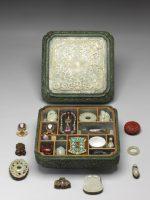 Cabinet de curiosités miniature. Chine Dynastie Qing, marque et règne de Qianlong (1736-1795) © Musée national du Palais, Taipei