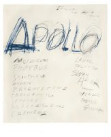 Apollo, 1975. Cy Twombly Foundation © Cy Twombly Foundation, courtesy Archives Nicola Del Roscio © Photo : Mimmo Capone